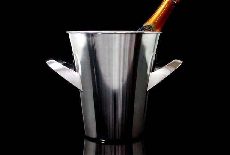 Midcentury WMF Silver Plated Ice Bucket Wine Cooler by Kurt Mayer, 1950s For Sale 6