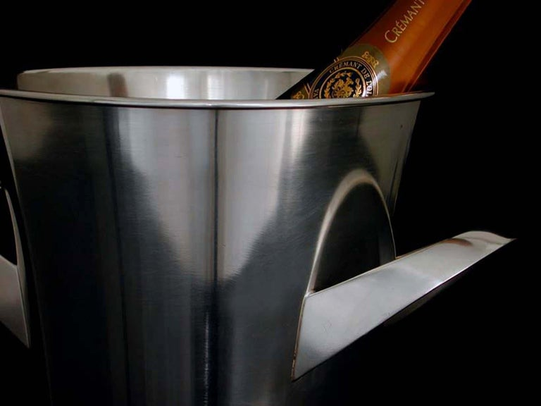 Mid-Century Modern Midcentury WMF Silver Plated Ice Bucket Wine Cooler by Kurt Mayer, 1950s For Sale