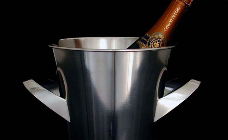 Midcentury WMF Silver Plated Ice Bucket Wine Cooler by Kurt Mayer, 1950s In Good Condition For Sale In Nümbrecht, NRW