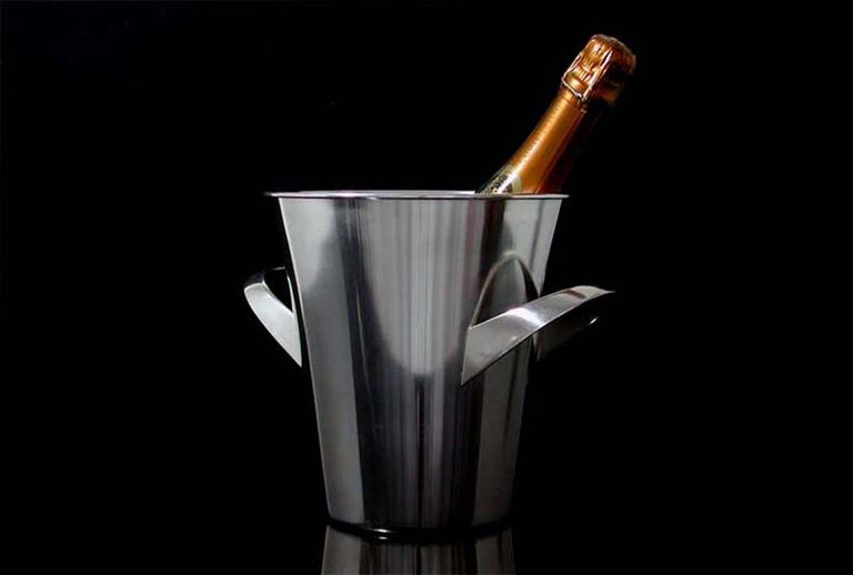 Mid-20th Century Midcentury WMF Silver Plated Ice Bucket Wine Cooler by Kurt Mayer, 1950s For Sale