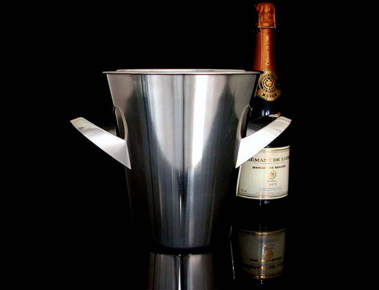 Midcentury WMF Silver Plated Ice Bucket Wine Cooler by Kurt Mayer, 1950s For Sale 1
