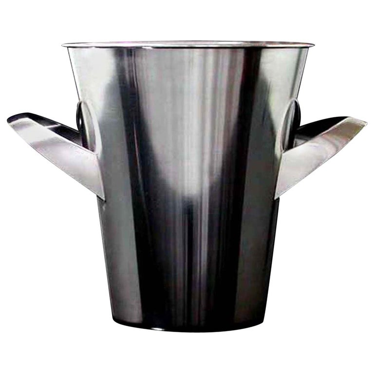 Midcentury WMF Silver Plated Ice Bucket Wine Cooler by Kurt Mayer, 1950s For Sale