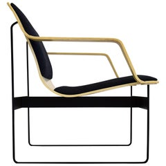 Mid-Century Wood and Metal Armchair
