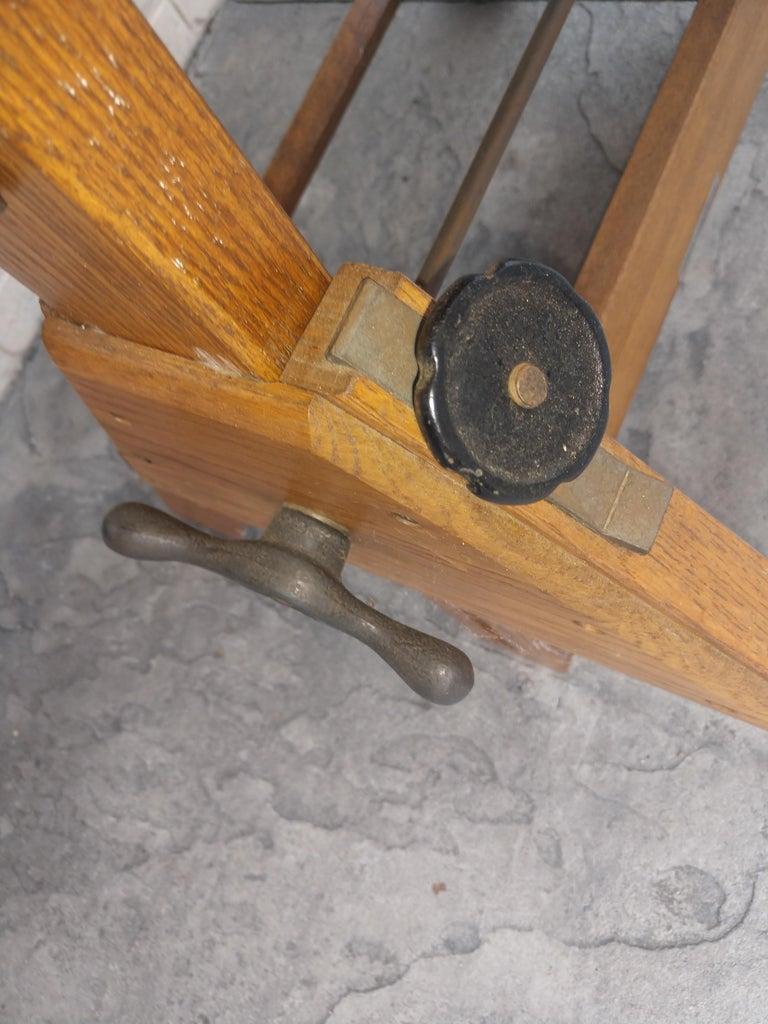 Mid Century Wood & Iron Hamilton Drafting Table C1955 1