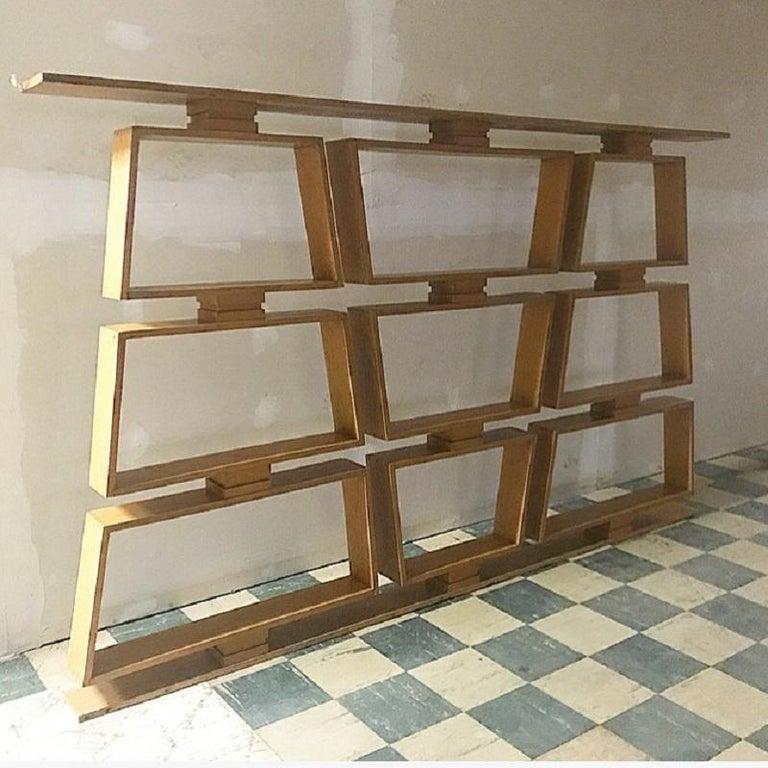 Mid-Century Modern Midcentury Wood Room Divider/Shelves For Sale
