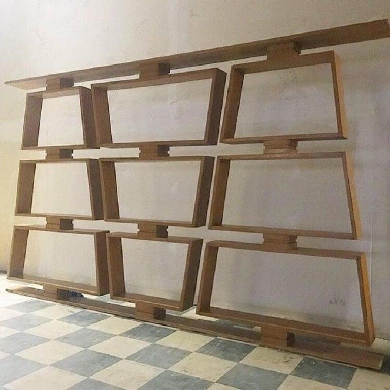 American Midcentury Wood Room Divider/Shelves For Sale