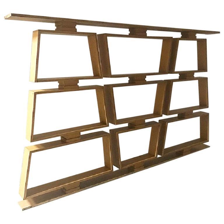 Midcentury Wood Room Divider/Shelves For Sale