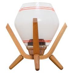 Mid-Century Wood Table Lamp by Drevo Humpolec, 1970's