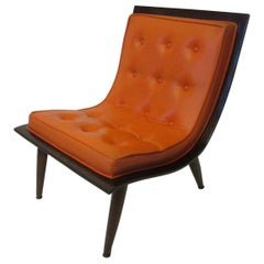 Midcentury Wood / Upholstered Lounge Chair by Paul & John Carter