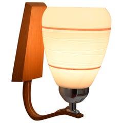 Mid-Century Wood Wall Lamp by Drevo Humpolec, 1970's
