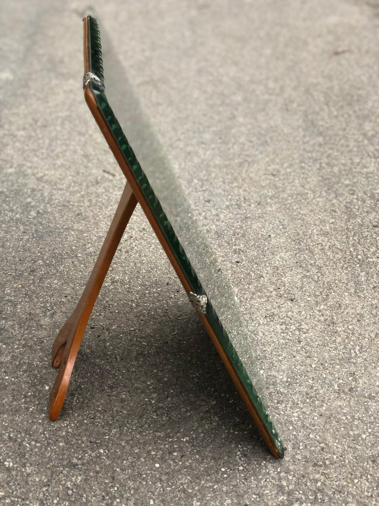 Italian Midcentury Wooden Elegant Vanity Mirror, Italy For Sale