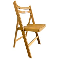 Mid Century Wooden Folding Chairs Event Cafe Patio Maple Blonde