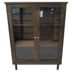 Mid Century Wooden / Glass Bookcase