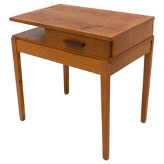 Midcentury Wooden Side Table, Czechoslovakia, 1970s