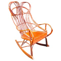 """Midcentury """"Woven Branch"""" Rocking Chair"""