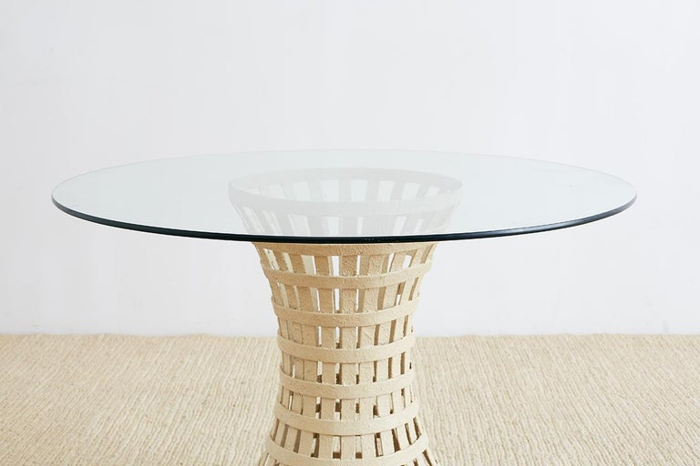 Mid-Century Modern Mid-Century Woven Metal Breakfast or Dining Table For Sale