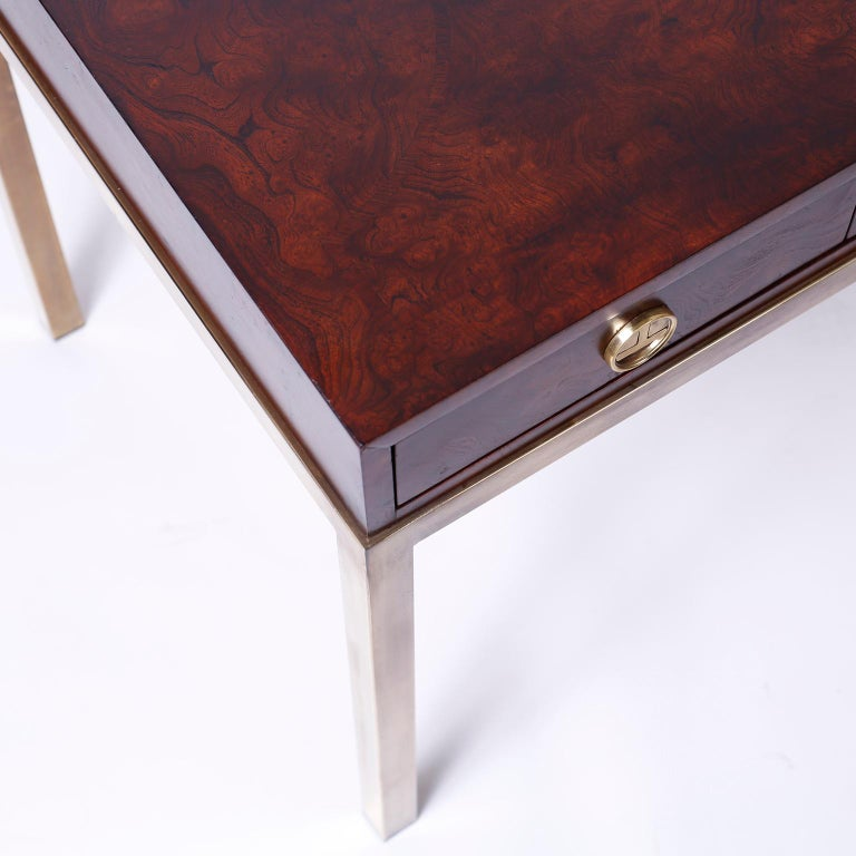 American Midcentury Writing Table or Desk by Mastercraft For Sale