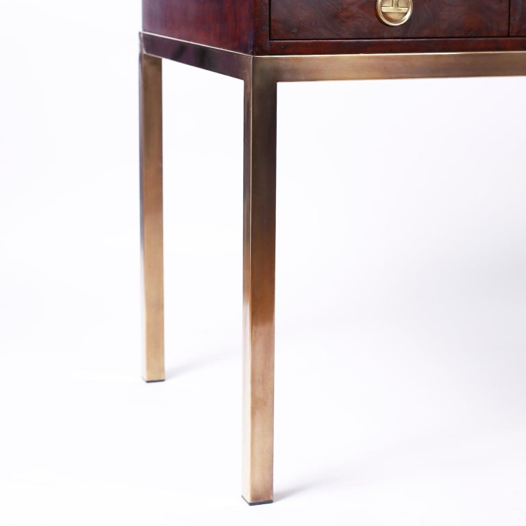 Midcentury Writing Table or Desk by Mastercraft In Good Condition For Sale In Palm Beach, FL