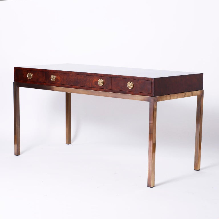 Midcentury Writing Table or Desk by Mastercraft For Sale 1