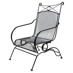 Mid Century Wrought Iron 'Spring' Chair