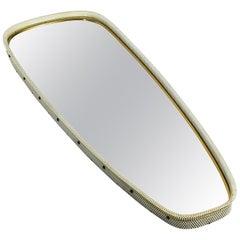 Midcentury XXL Perforated Metal Frame Wall Mirror by Vereinigten Werkstätten