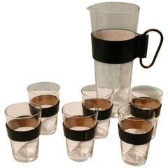 Mid-Century Modern Set of 6 Glasses and 1 Pitcher Carl Auböck, Austria