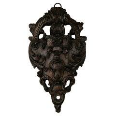 Mid-Eighteenth Century French Regency Period Hand-Carved Walnut Fragment