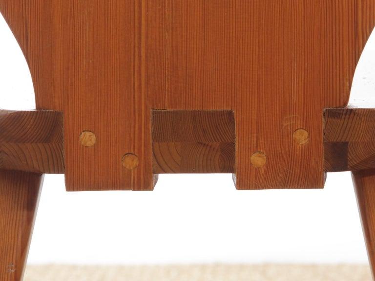 Mid Modern Scandinavian Visingsö Chairs in Pine by Carl Malmsten For Sale 8