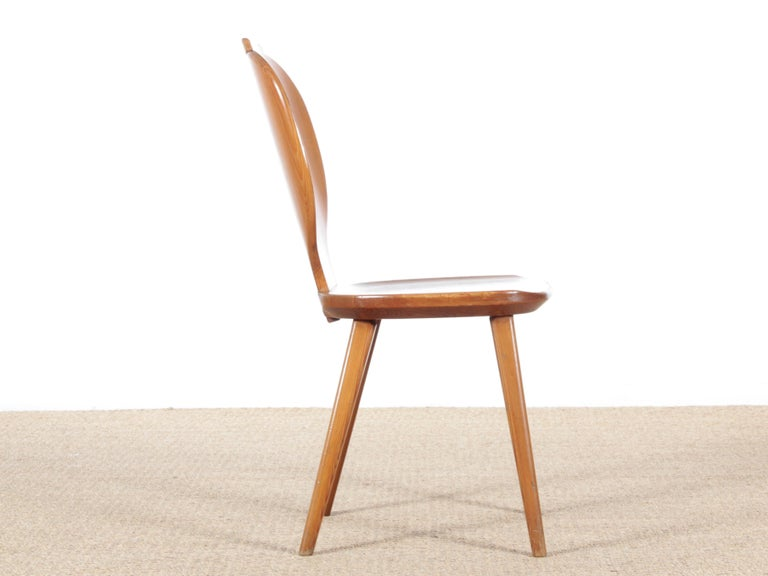 Mid Modern Scandinavian Visingsö Chairs in Pine by Carl Malmsten In Good Condition For Sale In Courbevoie, FR
