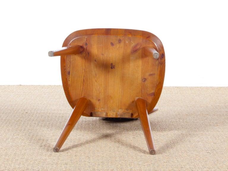 Mid Modern Scandinavian Visingsö Chairs in Pine by Carl Malmsten For Sale 3