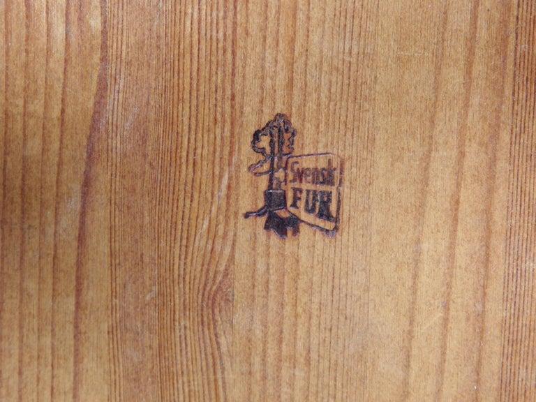 Mid Modern Scandinavian Visingsö Chairs in Pine by Carl Malmsten For Sale 4