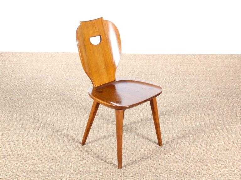 Mid Modern Scandinavian Visingsö Chairs in Pine by Carl Malmsten For Sale 5