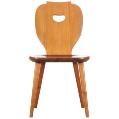 Mid Modern Scandinavian Visingsö Chairs in Pine by Carl Malmsten