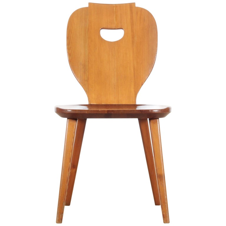 Mid Modern Scandinavian Visingsö Chairs in Pine by Carl Malmsten For Sale