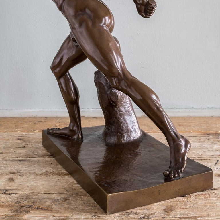 Mid-19th Century French Bronze Figure of the Borghese Gladiator For Sale 4