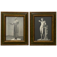 Mid of Midcentury Classical Greek Sculptures Framed Prints, circa 1950