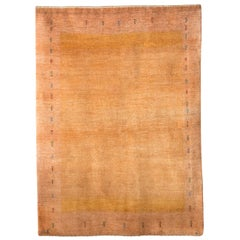 Mid-Size Caramel and Neutral Contemporary Gabbeh Persian Wool Rug