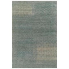 Mid-Size Blue Gray Contemporary Gabbeh Persian Wool Rug