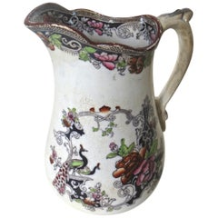 "Mid-Size Ironstone Pitcher by ""W & J Butterfield"" England, circa 1855"