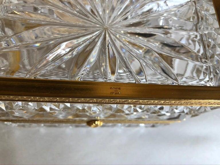 Mid-20th Century Italian Cut Crystal Dresser Box For Sale 2
