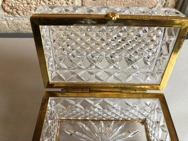 Mid-20th Century Italian Cut Crystal Dresser Box For Sale 3