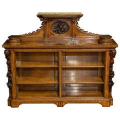 Mid-Victorian Burr Walnut Bookcase