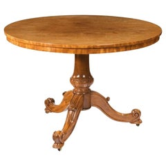 Mid-Victorian Faded Satinwood Centre Table