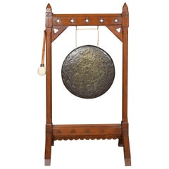Mid Victorian gothic revival dinner gong