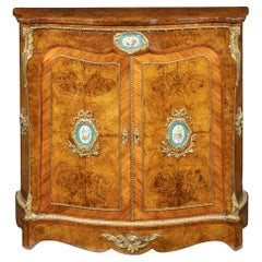 Mid-Victorian Kingwood Serpentine Cabinet