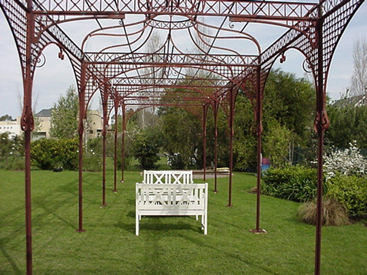 Charmant Mid Victorian Moorish Wrought U0026 Cast Iron Pergola Or Decorative Garden  Structure
