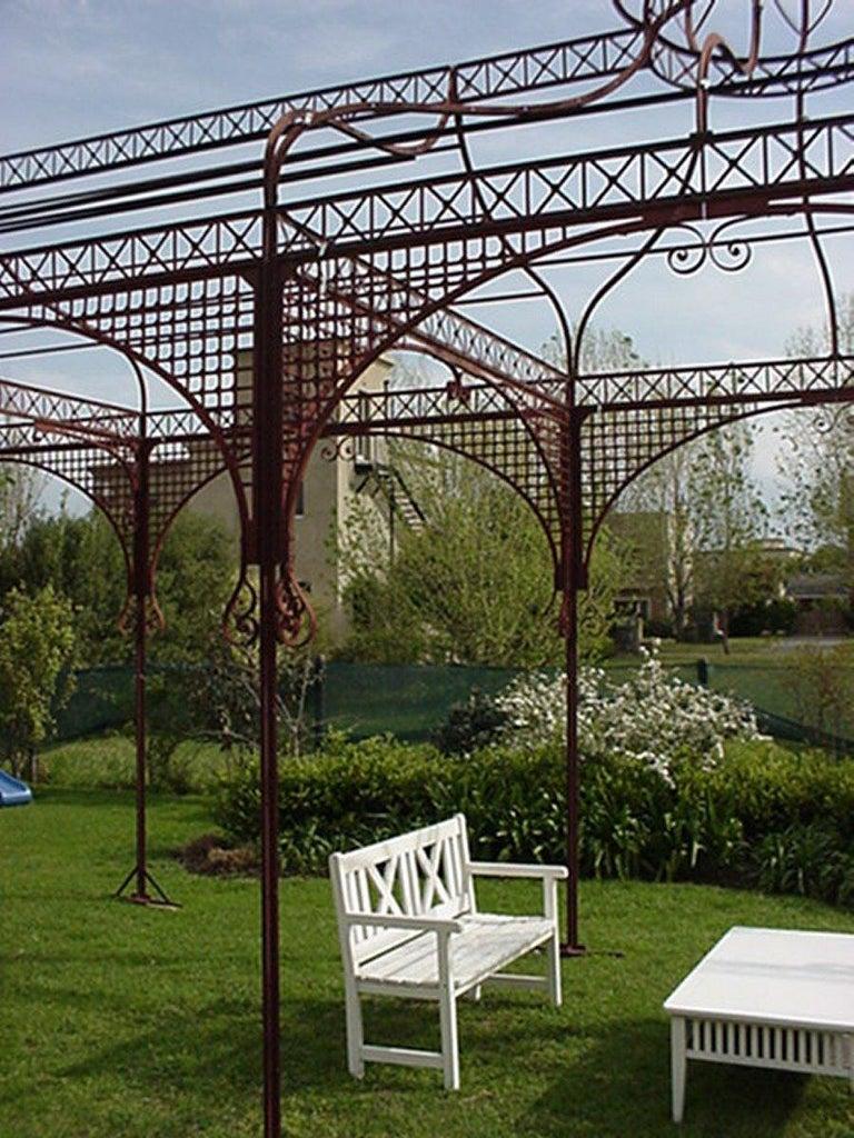 Mid-Victorian Moorish Wrought & Cast Iron Pergola or Decorative Garden  Structure For Sale 1 - Mid-Victorian Moorish Wrought And Cast Iron Pergola Or Decorative