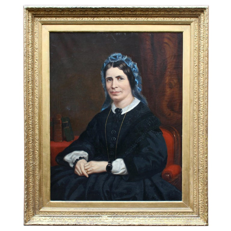 Mid Victorian Portrait of a Lady by W.R.Waters 1877 For Sale