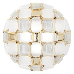 In Stock in Los Angeles, Mida Gold / Silver Ceiling Wall Lamp, Made in Italy