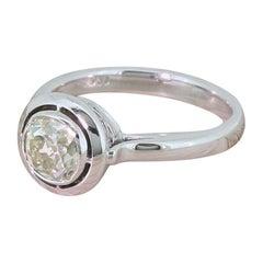 Midcentury 1.18 Carat Old Cut Diamond Engagement Ring